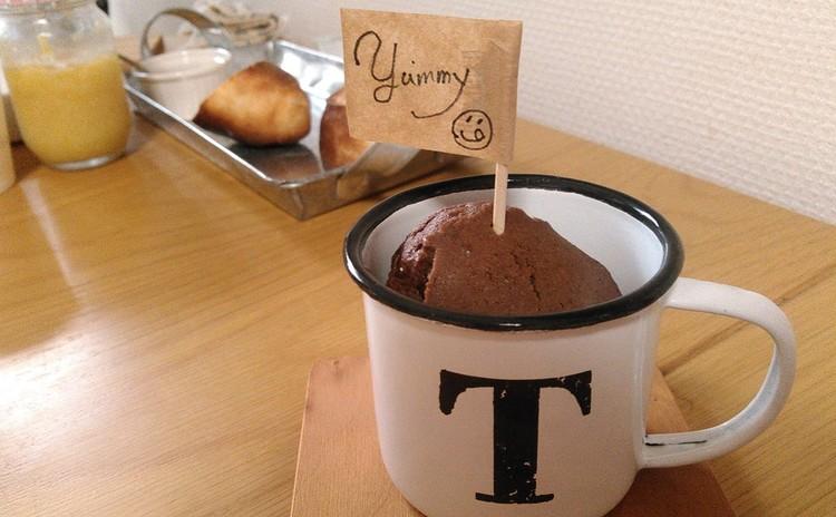 カップはお土産♡これが本当のカップケーキ♡バレンタイン向けにチョコ味!