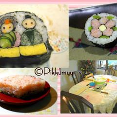 可愛い&簡単❀おひなさま・小梅・菱餅❀パーティ・お弁当に!