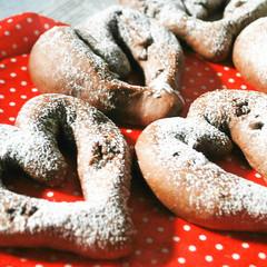 バレンタインにプレゼント♥チョコハート&パン屋さんのハムのお総菜パン