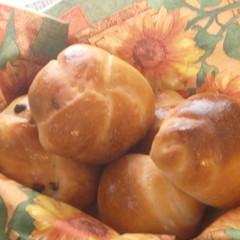 ★ランチ&持ち帰り生地付★レーズン酵母でバターロール&チョコチップパン