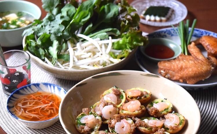 みんな大好き!ベトナム風たこ焼きバインコット&鶏の手羽先ヌックマム風味