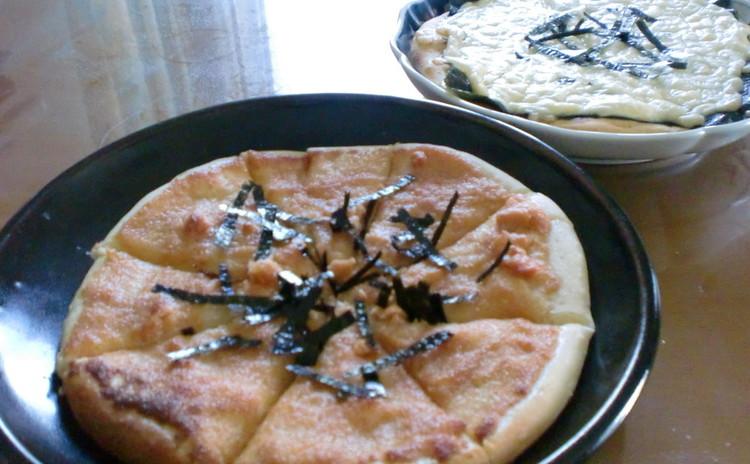 和のトッピングがよく合う味わい深い天然酵母ピザ生地