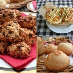 紙焼きブレッド・カレンズとオートミールのクッキー・甘食