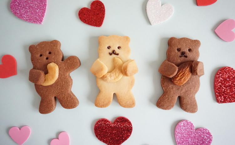 抱っこクマさんのクッキー♪ クマさんがいろいろ抱っこして超ラブリー♥♥