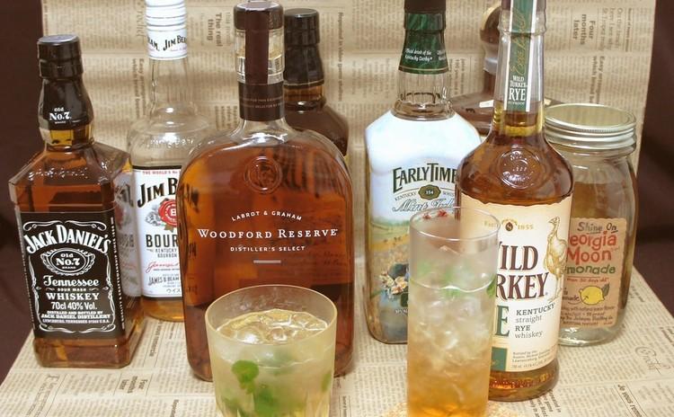 アメリカンウイスキーの基礎~バーボン3種+2種と春のミントカクテル作り