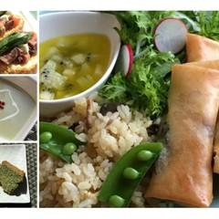 新緑の5月☆グリーン野菜と旬の魚で体内クリーンアップ☆薬膳ランチ
