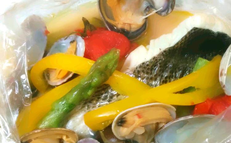 旬の魚簡単アクアパッツア、切り身を使い旬の野菜も入れて、色鮮やかに