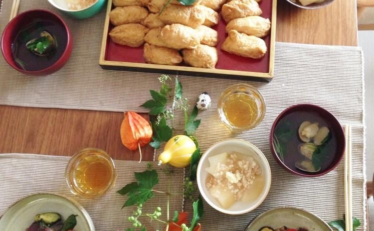 自家製鰹のタタキ作り♪からのサラダ仕立て&腹巻きいなり寿司