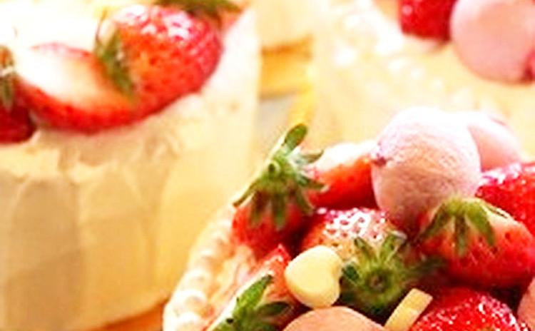 【子供】もパティシエ気分〜♡ こども苺ショートケーキレッスンです!