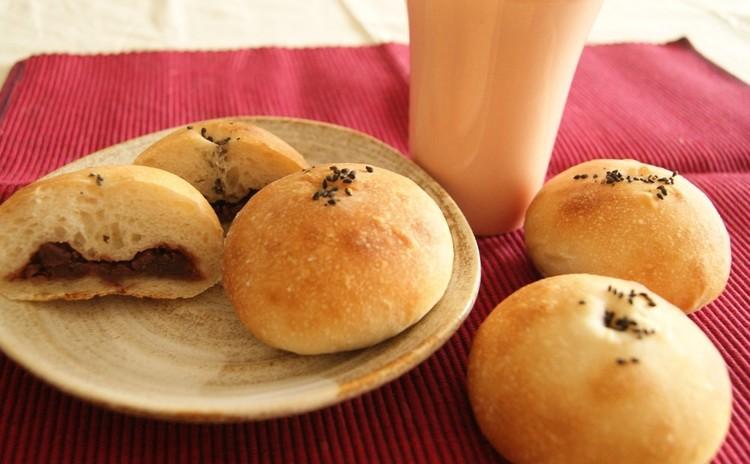 いろいろ挟んでお食事に!米粉ロールパン・楽しいおやつに!米粉あんぱん