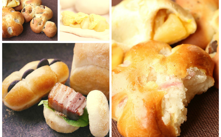 一つの生地が6変化♪ バラエティに富んだ「6つのパン」を作りましょう♡