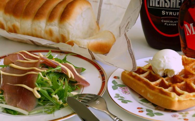 こねない簡単ミニ食パン&レモンマヨネーズサラダ ランチ付