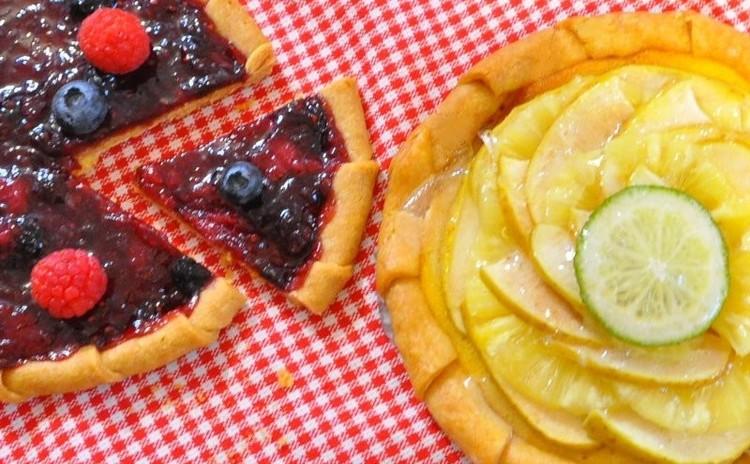今話題!型なしで焼けるグリーンアップルパイ アレンジパイの試食つき♪