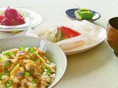 料理レッスン写真 - 旨味たっぷりあさりご飯と春掘り長いものほっこりお味噌汁、トマトジュレ♪