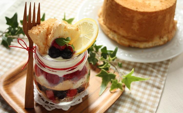 初夏に爽やか!人気ジャースイーツでベリーのレアチーズケーキ♡&シフォン