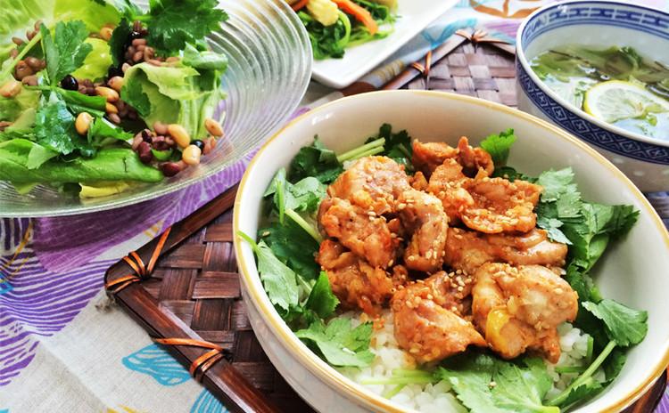 鶏肉の旨みをギュッと凝縮!胃腸を元気にする薬膳ランチを作りましょう♪
