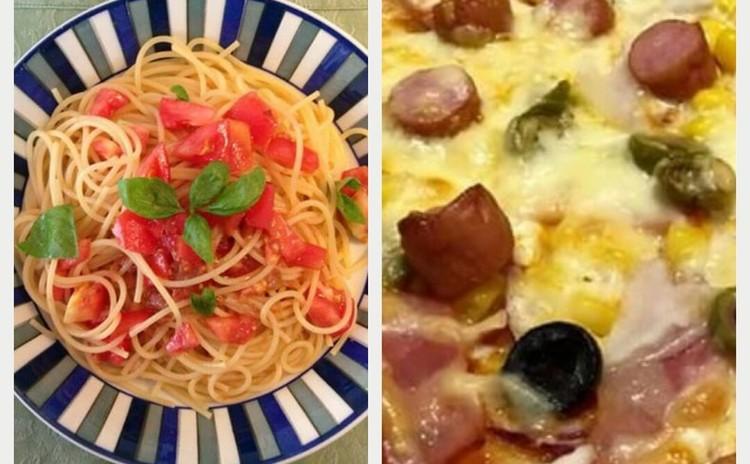 【リクエストに応えて#2】ピザ&梅とトマトの冷製パスタ