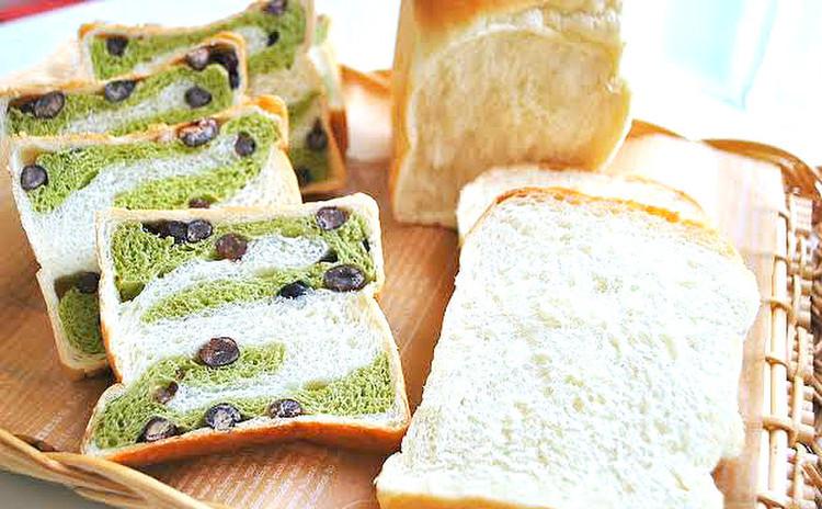 【話題の沼さんサンド付き!】新緑の和風抹茶ブレッド&定番の食パン