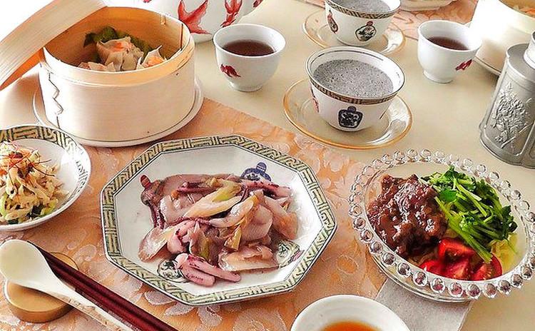 【初夏のヘルシー中華!全5品】焼売・冷麺・炒め物・ピリ辛和物・プリン