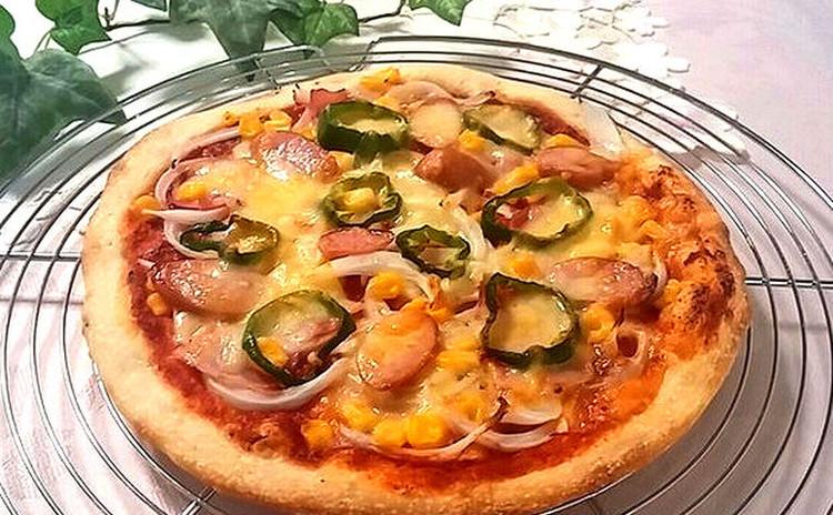 【春のイタリアン】お家で簡単手作りピザ  春野菜のゼリー寄せと一緒に