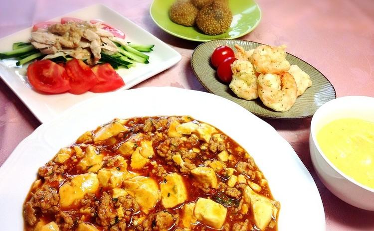 ご飯がススムふわふわアツアツ麻婆豆腐♫ 定番中華料理のフルコース❤