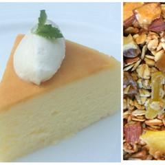 スフレ・チーズケーキ&ココナツオイルのトロピカル・フルーツグラノーラ♪