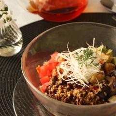 再:中華でおもてなし/涼麺・もち米団子・海老とコーンの団子