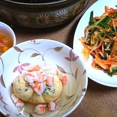 お野菜たっぷり初夏のヘルシーメニュー。ごはんは土鍋で炊きましょう!
