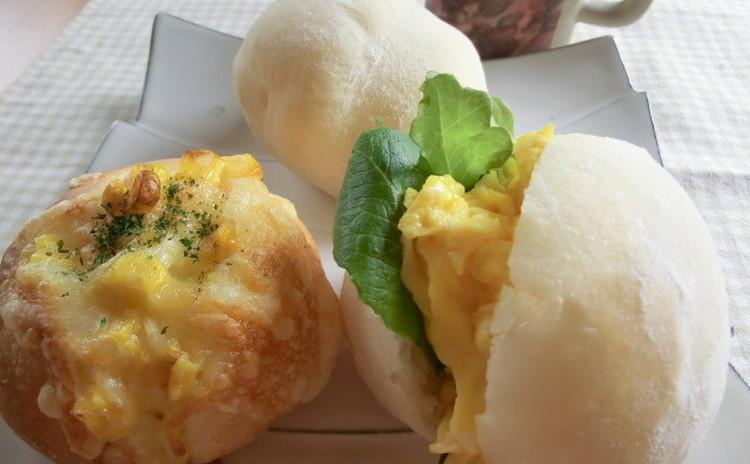 天然酵母deふわふわはちみつ白パン&チーズ入りこんがりパン