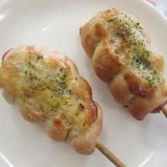 天然酵母の「あこ酵母」ウインナー棒&チーズマヨパン