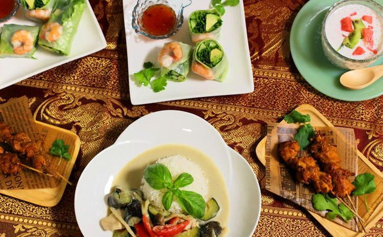 夏こそ食べたい!「グリーンカレー」初夏のおもてなし★エスニック料理★