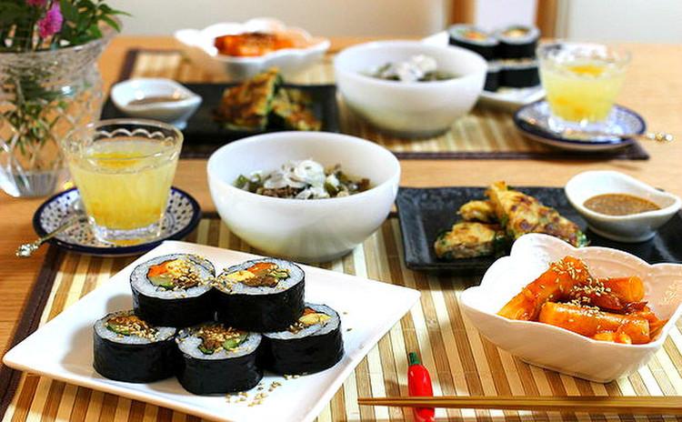 一周年★リクエストメニュー!寒い冬に食べたい!韓国海苔巻&簡単チジミ
