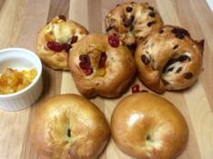 料理レッスン写真 - オレンジクランベリーベーグル&チョコナッツベーグル&プレーンベーグル