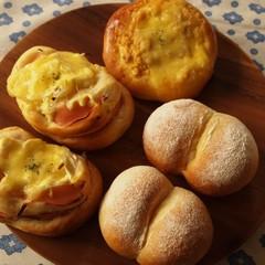 ランチ付♡基本のシンプル白パン&人気のハムマヨパン&ツナマヨコーン
