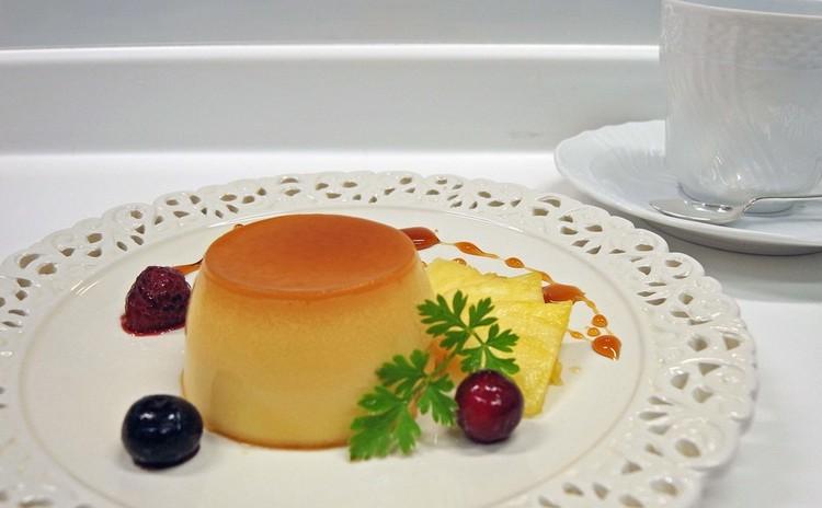 マスカルポーネチーズの美味しいなめらかチーズプリン  パスタ・ランチ付