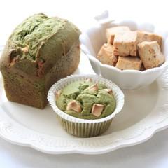 <ノンバター>濃抹茶パウンド&アーモンドクッキー★お試しレシピあり