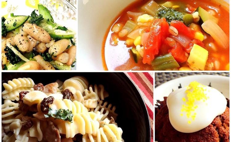【夏にぴったり!】レモンクリームの冷製パスタ&夏野菜のトマトスープ他