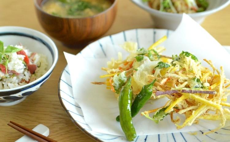 サックサクの野菜かき揚げで夏の和献立~基本のかき揚げレッスン