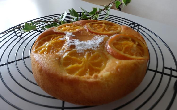 フレッシュオレンジのジューシーケーキ