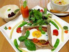 料理レッスン写真 - 本格的そば粉のガレットおうちでも!&デザートまで野菜づくしのベジコース