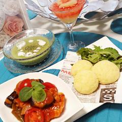 【夏のカフェテーブル】発酵なし!!ポンデケージョ&夏野菜のメニュー