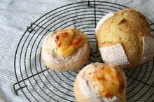 料理レッスン写真 - 自家製酵母でハードパン!カレー風味のカンパーニュ&ごまごまフロマージュ