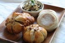 料理レッスン写真 - 自家製酵母パン!プレーンマフィン&いちじくのお花パン、きのこのマリネ
