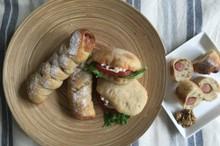 料理レッスン写真 - 自家製酵母パン!ねじねじウインナー&ピタパン、自家製酵母de蒸し鶏