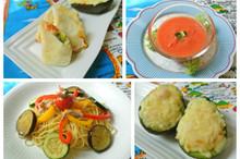 料理レッスン写真 - イタリアンな春巻き&冷たいスープ&アボカドオーブン焼き&夏野菜のパスタ