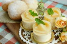 料理レッスン写真 - 夏を涼しく♪桃のなめらかババロアところりんくるみパン♡