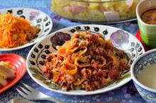 料理レッスン写真 - 自家製ミートソースで絶品ボロネーゼを♡お野菜たっぷりの洋食献立です♪