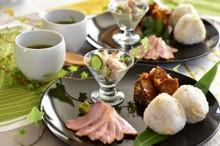 料理レッスン写真 - 簡単だから何度でも 鴨ロースとミョウガの炊き込みご飯、鯵の開きのサラダ