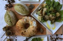 料理レッスン写真 - 自家製酵母パン!Wチョコdeナッツナッツ&抹茶、ハニーチキン酵母サラダ