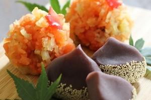 料理レッスン写真 - 秋を感じる和菓子2品!「山の秋」羊羹金団製と「栗」練り切り製